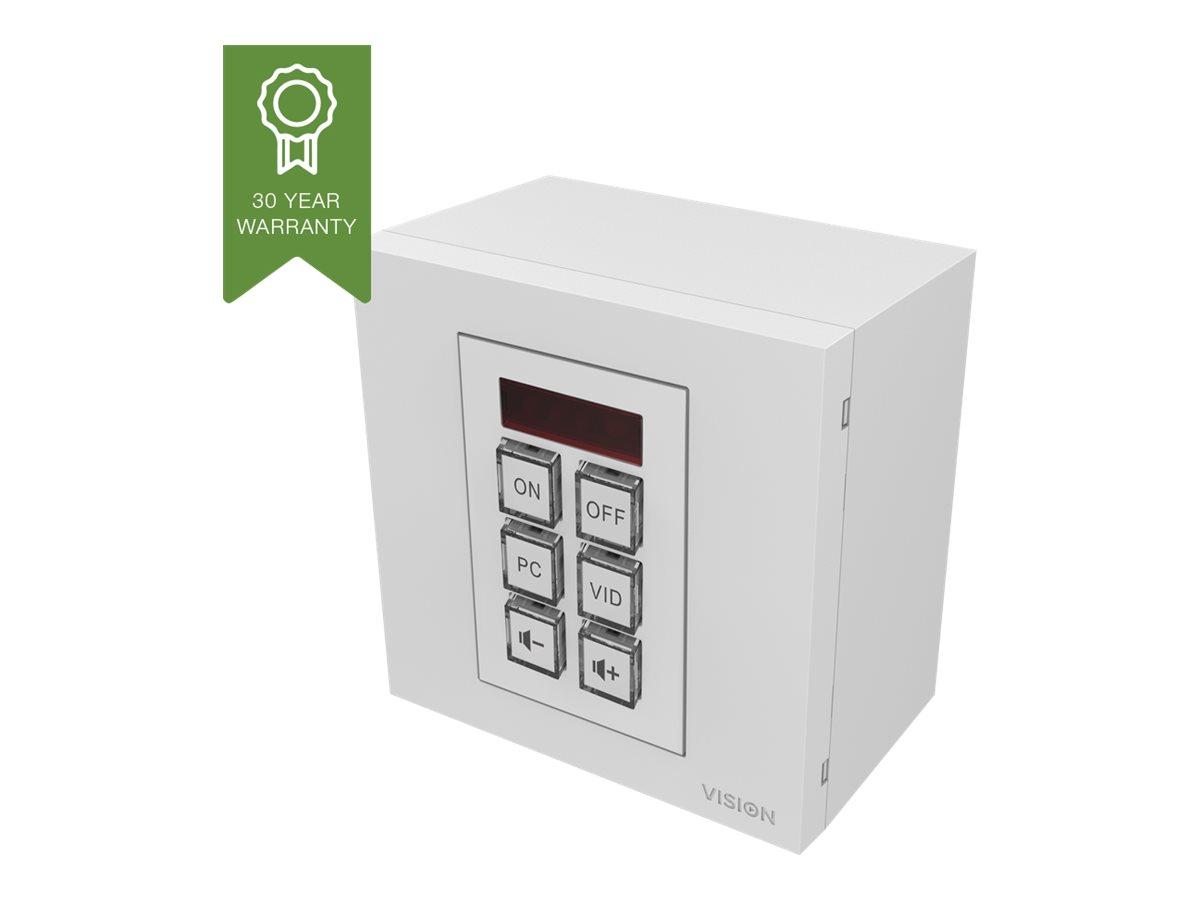 Vision Techconnect TC3-CTL - Fernsteuerung für Wandmodul - 6 Tasten - Kabel/Infrarot - weiss