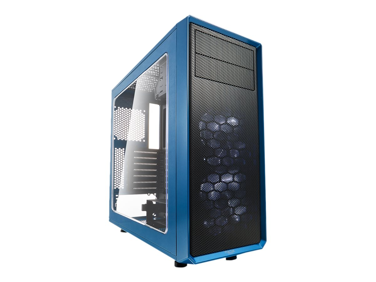 Fractal Design Focus Series G - Tower - ATX - ohne Netzteil (ATX) - Petrolblau - USB/Audio