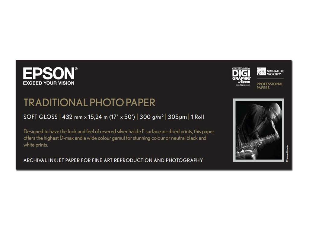 Epson Traditional Photo Paper - Rolle (43,2 cm x 15 m) - 300 g/m² - Fotopapier - für Stylus Pro 4900 Spectro_M1; SureColor P5000