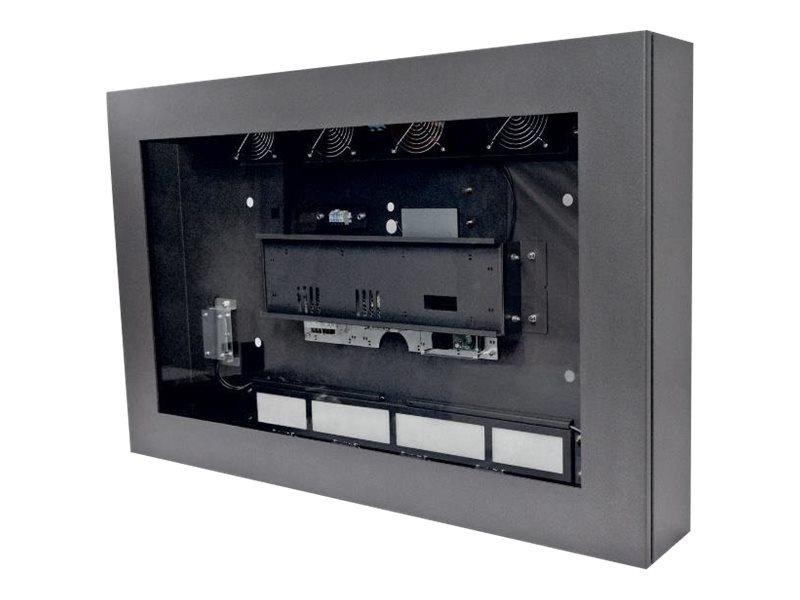 Neovo LOC-55 - Gehäuse für LCD-Display - verriegelbar - Glas, Stahl - Anthrazit - Bildschirmgrösse: 139.7 cm (55