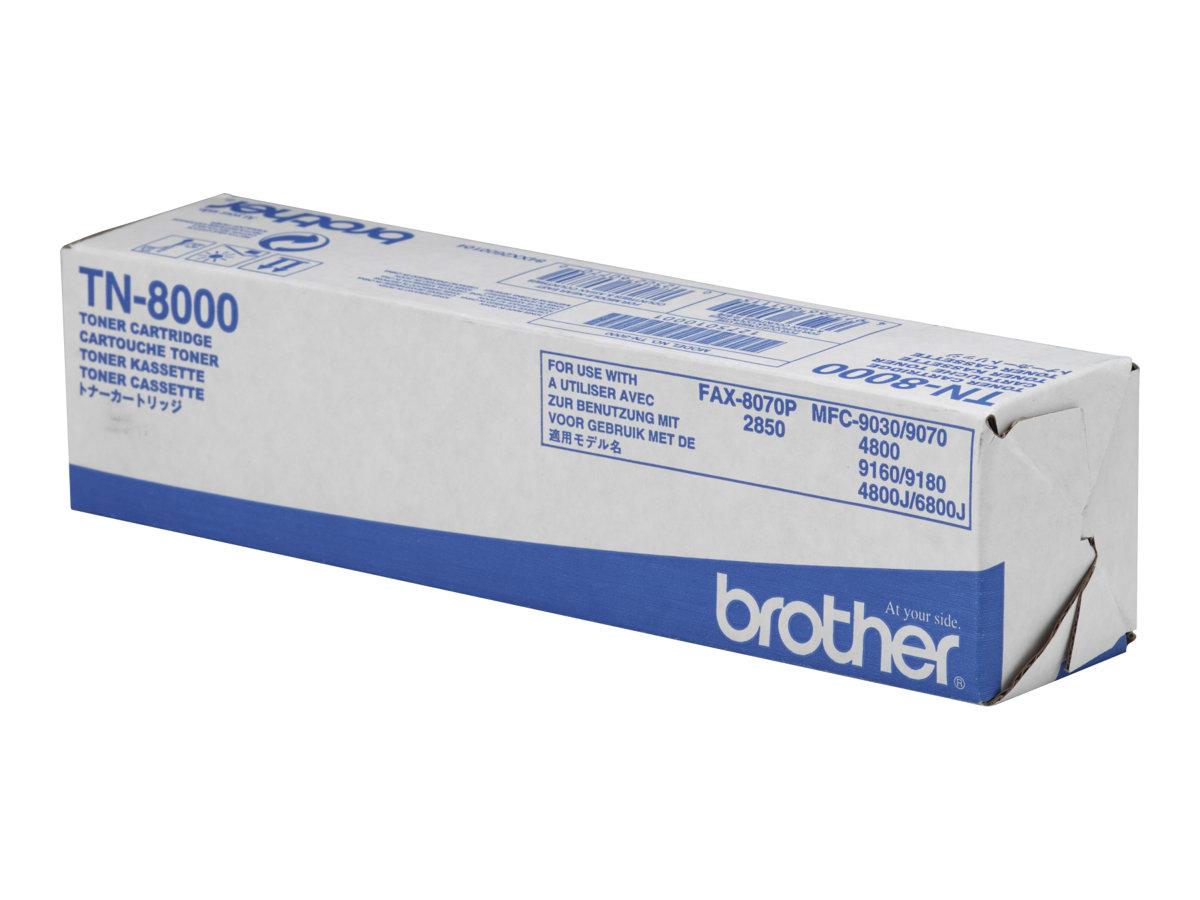 Brother TN8000 - Schwarz - Original - Tonerpatrone - für Brother MFC-4800, MFC-9030, MFC-9070, MFC-9160, MFC-9180; FAX-2850, 807
