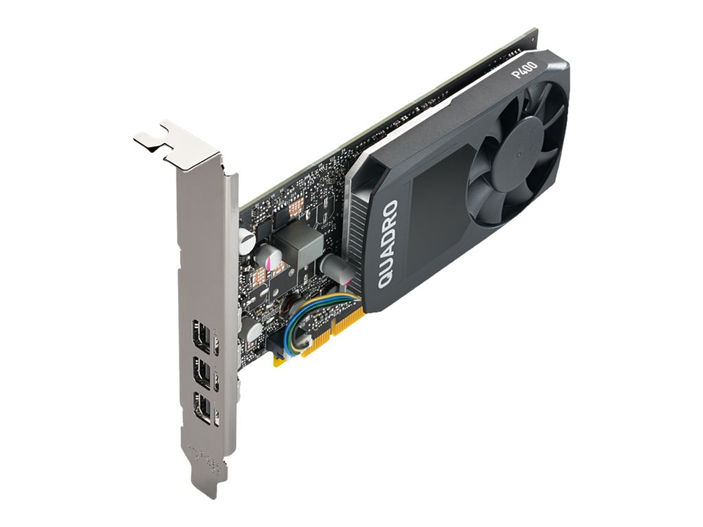 NVIDIA Quadro P400 DVI - Grafikkarten - Quadro P400 - 2 GB GDDR5 - PCIe 3.0 x16 Low-Profile - 3 x Mini DisplayPort