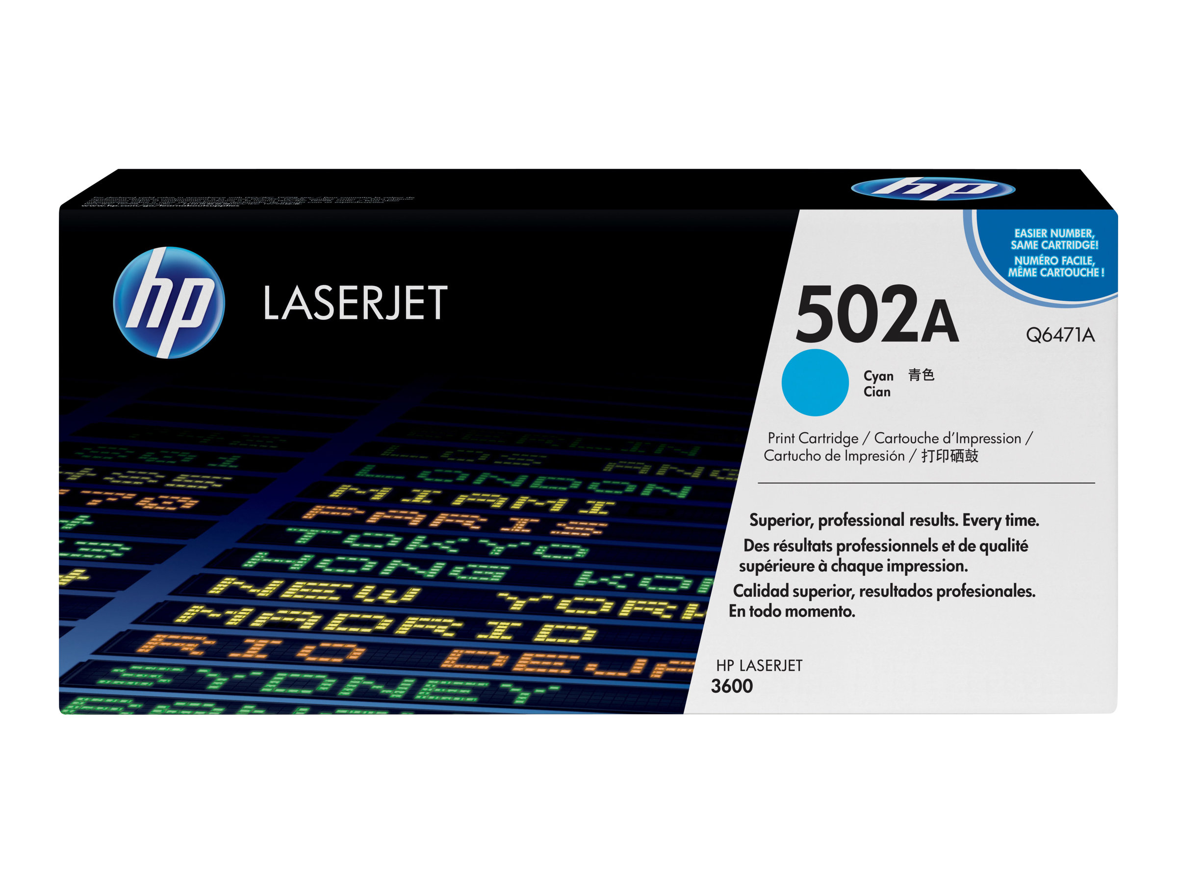 HP 502A - Cyan - Original - LaserJet - Tonerpatrone (Q6471A) - für Color LaserJet 3600, 3600dn, 3600n
