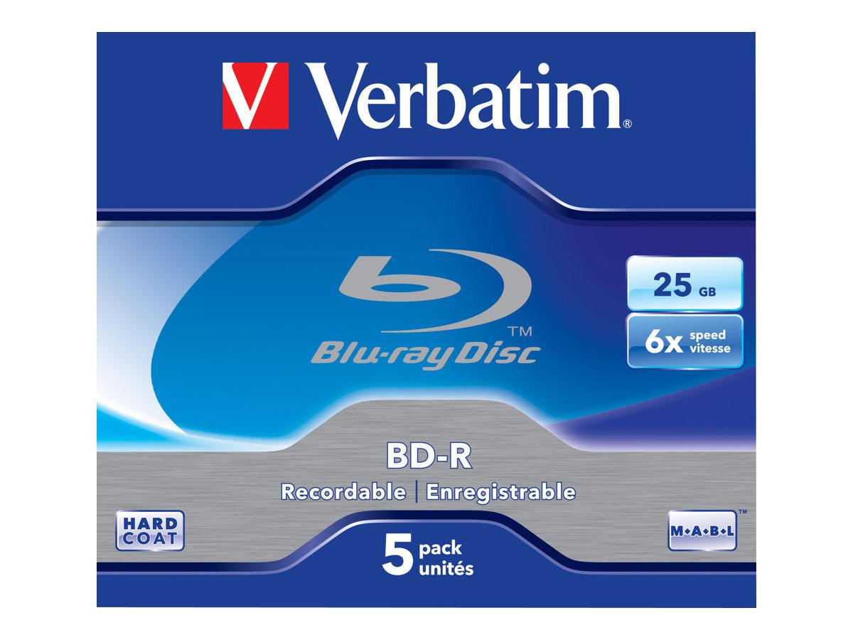 Verbatim - 5 x BD-R - 25 GB 6x - Jewel Case (Schachtel)