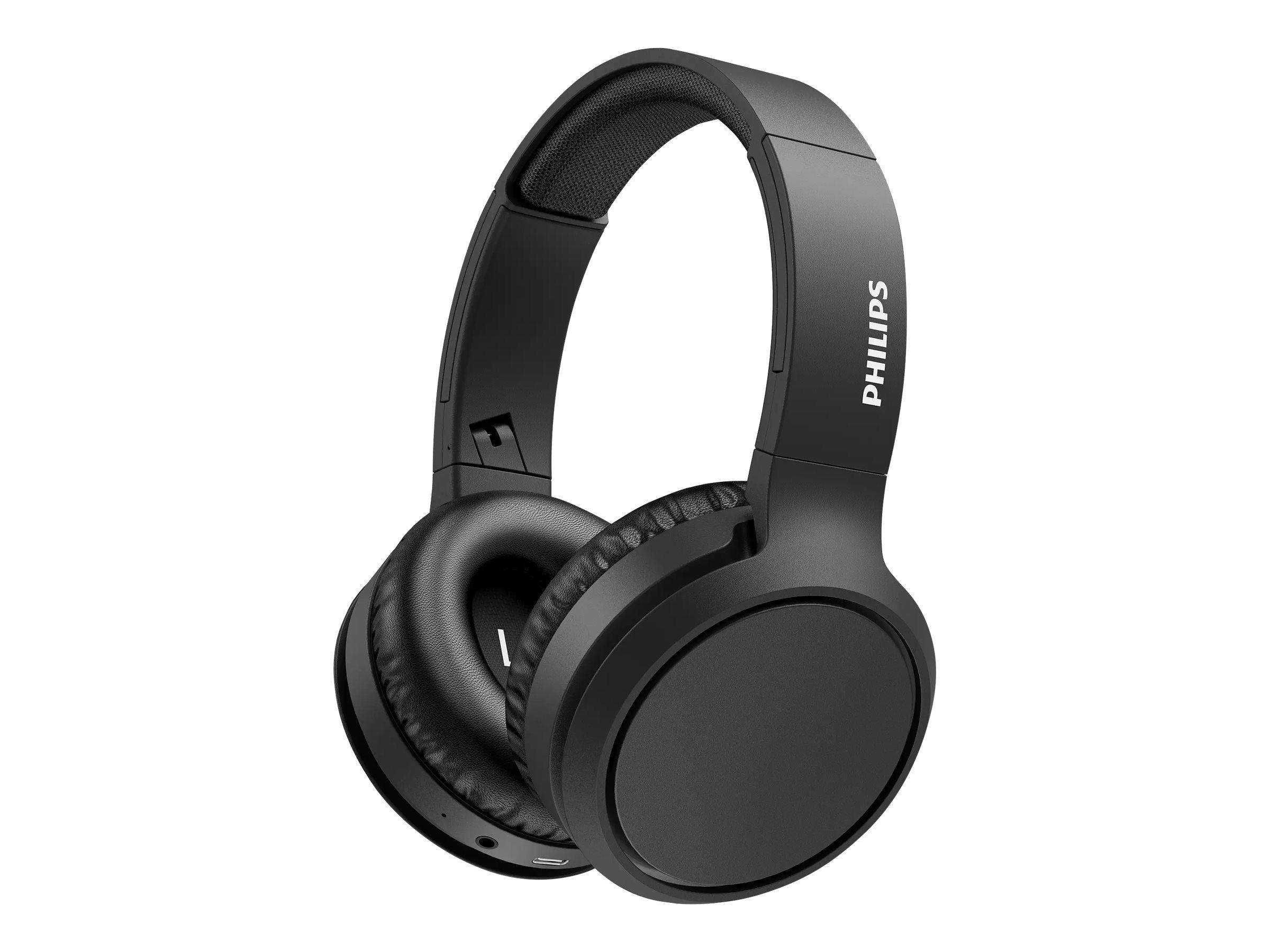 Philips TAH5205BK - Kopfhörer mit Mikrofon - ohrumschliessend - Bluetooth - kabellos - Schwarz
