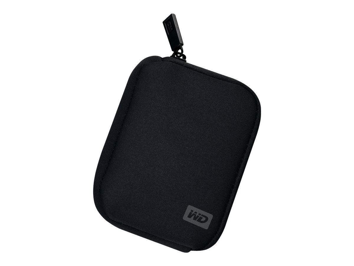 WD My Passport WDBABK0000NBK - Tragetasche für Speicherplatte - Schwarz - für My Passport Essential WDBAAA4000, WDBAAA5000, WDBA