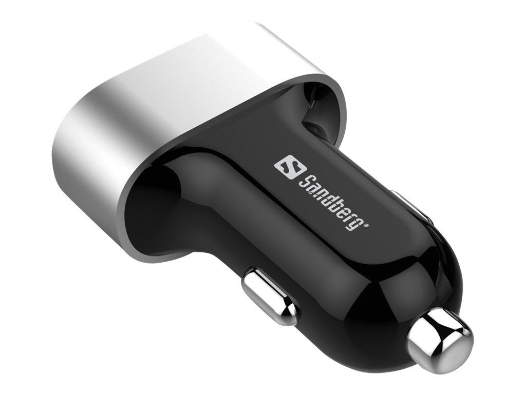 Sandberg Multi - Auto-Netzteil - 7.2 A - 3 Ausgabeanschlussstellen (USB)