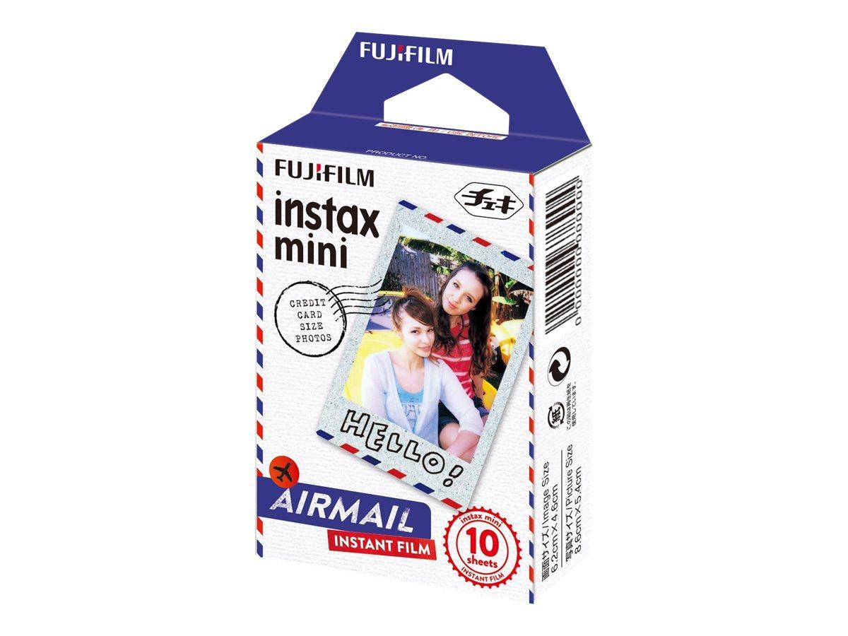 Fujifilm Instax Mini Air mail - Instant-Farbfilm - instax mini - ISO 800 - 10 Belichtungen