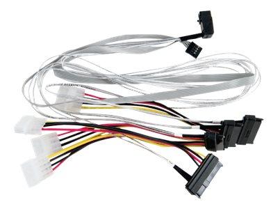 Microsemi Adaptec - Internes SAS-Kabel - mit Sidebands - SAS 6Gbit/s - 4-Lane - 4x Mini SAS HD (SFF-8643) (M) bis interne Stromv