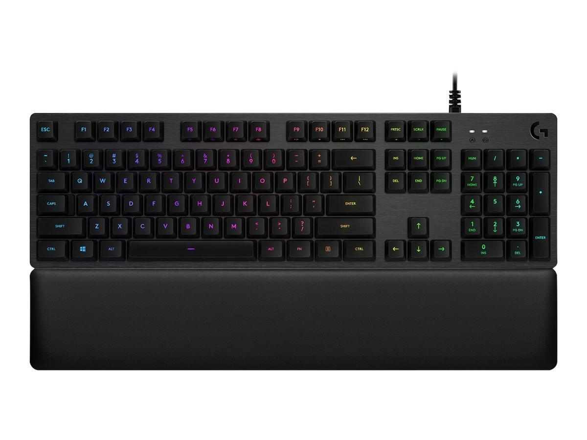 Logitech Gaming G513 - Tastatur - hintergrundbeleuchtet - USB - US International - Schlüsselschalter: Romer-G Tactile