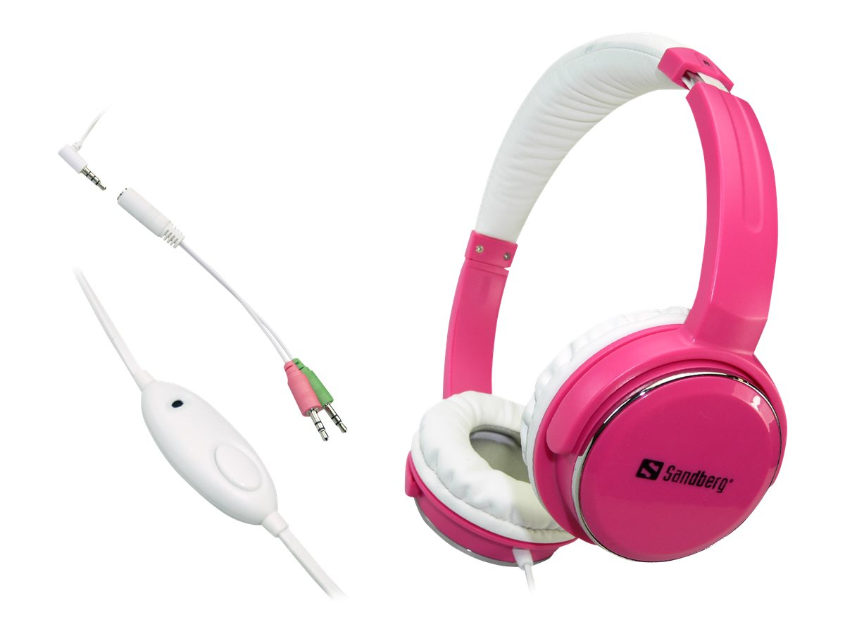 Sandberg Home'n Street - Headset - Full-Size - kabelgebunden - pink
