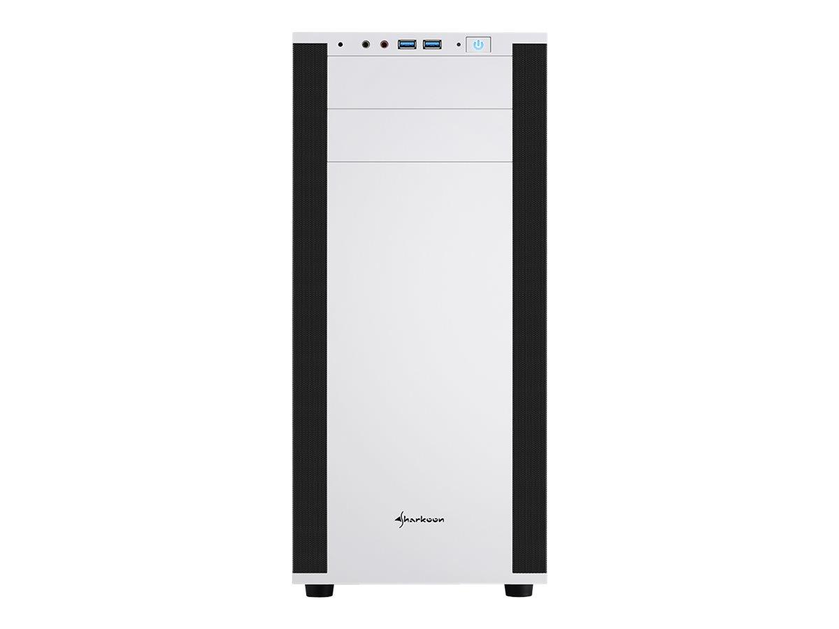 Sharkoon M25-W - Tower - ATX - ohne Netzteil - weiss - USB/Audio