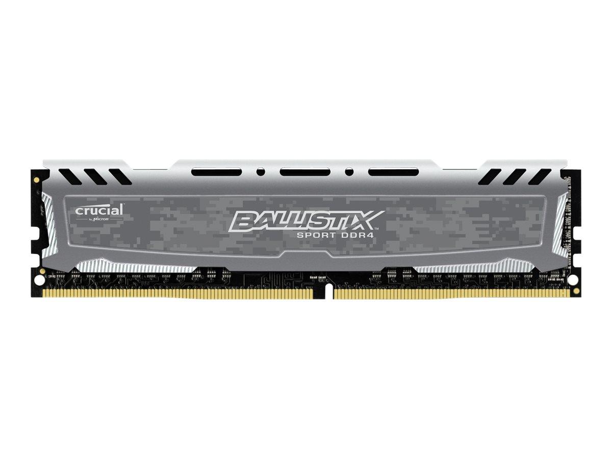 Ballistix Sport LT - DDR4 - 8 GB: 2 x 4 GB - DIMM 288-PIN - 2400 MHz / PC4-19200 - CL16