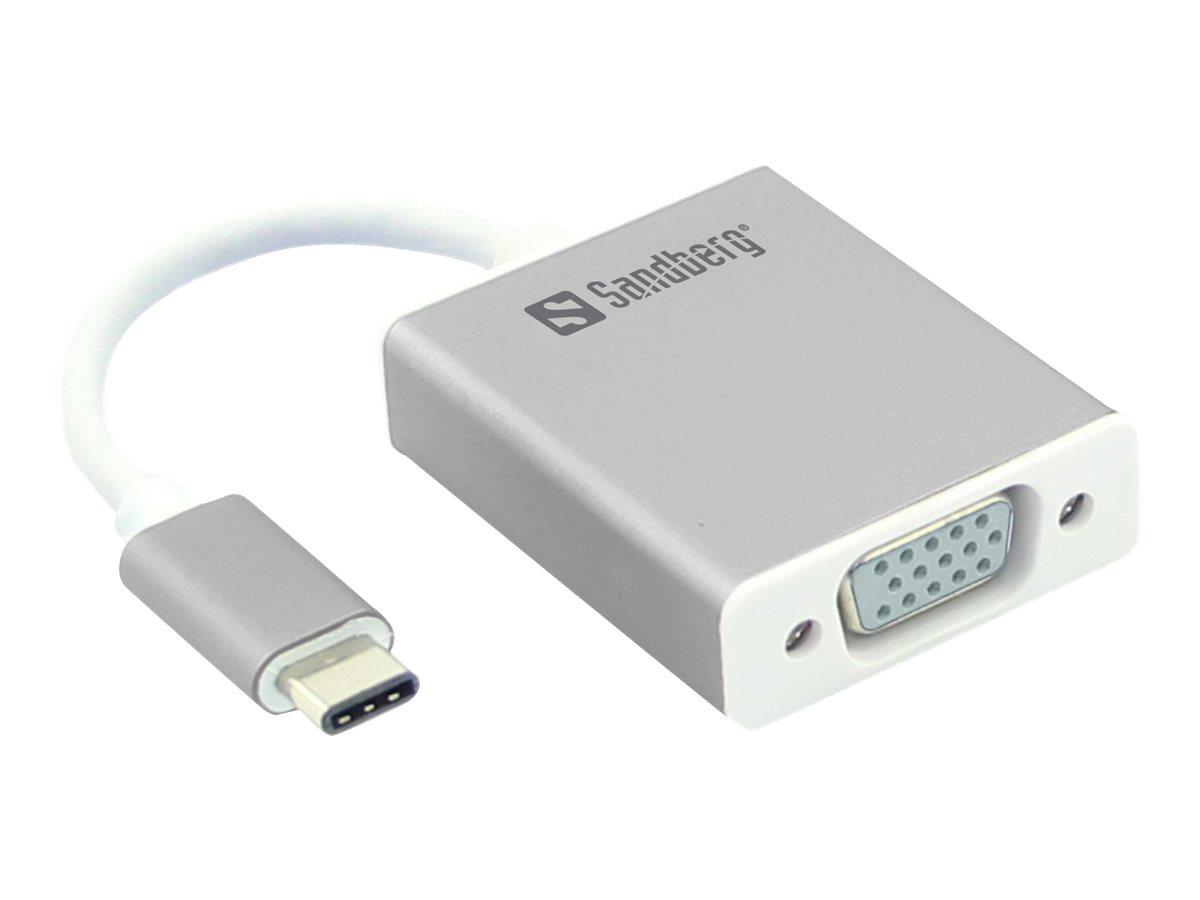 Sandberg - Externer Videoadapter - USB-C - VGA