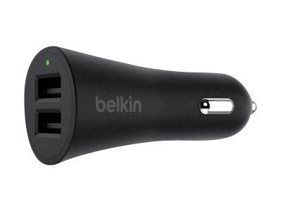 Belkin BOOST UP Car Charger - Auto-Netzteil - 24 Watt - 4.8 A - 2 Ausgabeanschlussstellen (USB) - Schwarz