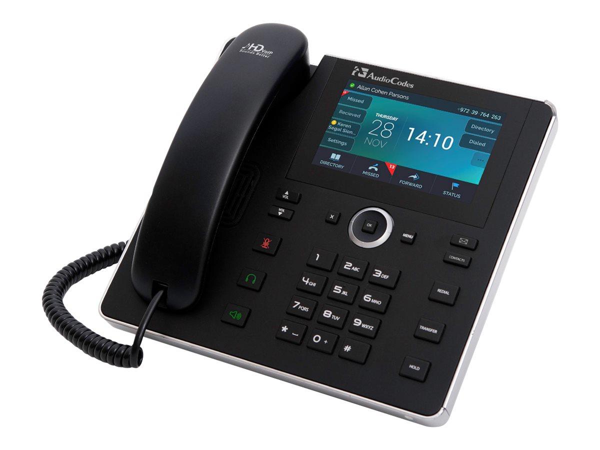 AudioCodes 450HD SIP IP Phone - VoIP-Telefon - SIP, SDP - 8 Leitungen - Schwarz