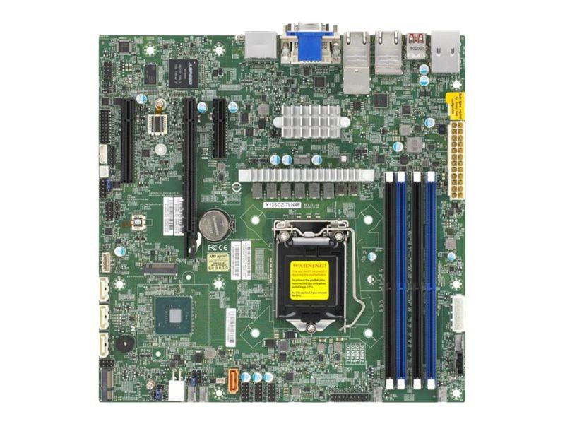 SUPERMICRO X12SCZ-TLN4F - Motherboard - micro ATX - LGA1200-Sockel - W480 - USB 3.2 Gen 2