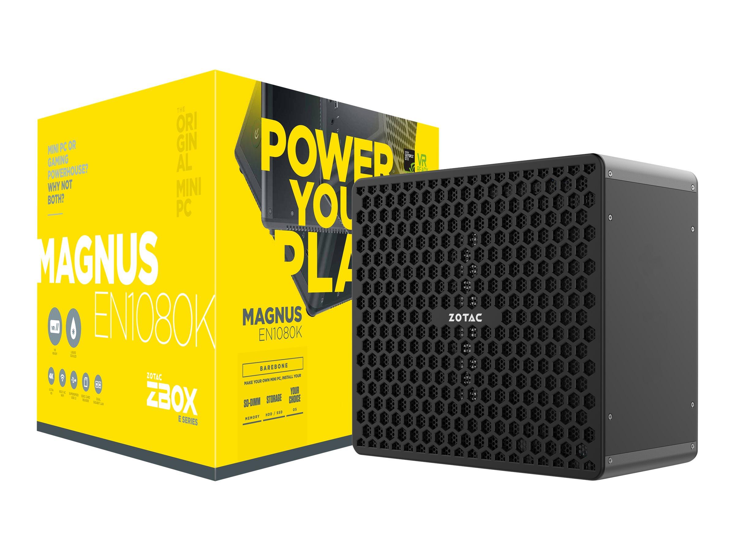 ZOTAC ZBOX E Series MAGNUS EN1080K - Barebone - Mini-PC - 1 x Core i7 7700 / 3.6 GHz - GF GTX 1080 - GigE