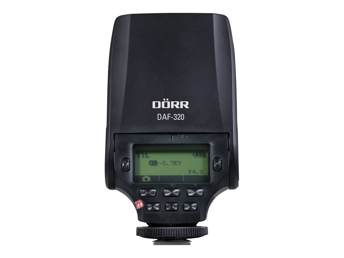 Dörr DAF-320 - Blitzgerät - 32 (m) - für Fujifilm X Series X100, X20, X30, X70, X-A1, X-A2, X-E1, X-E2, X-M1, X-Pro2, X-T1, X-T1
