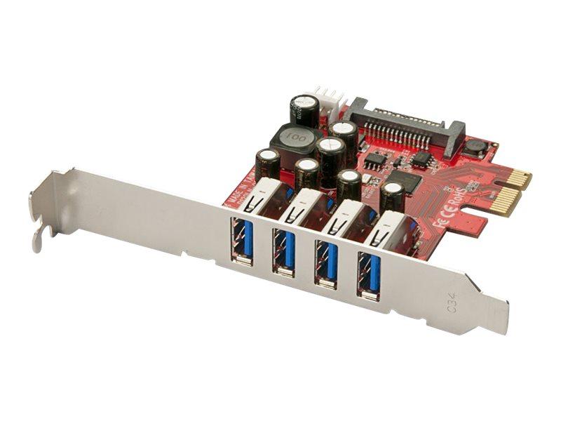 Lindy 4 Port USB 3.0 PCIe Card - USB-Adapter - PCIe 2.0 - USB 3.0 x 4