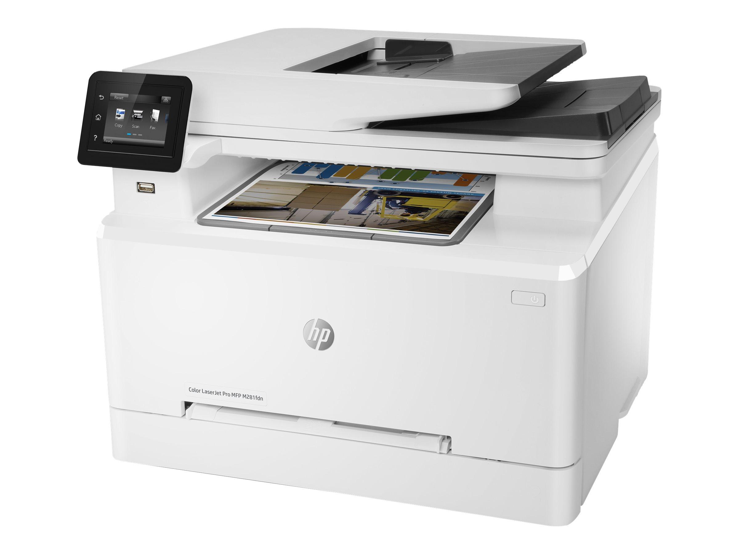 HP Color LaserJet Pro MFP M281fdn - Multifunktionsdrucker - Farbe - Laser - Legal (216 x 356 mm) (Original) - A4/Legal (Medien)