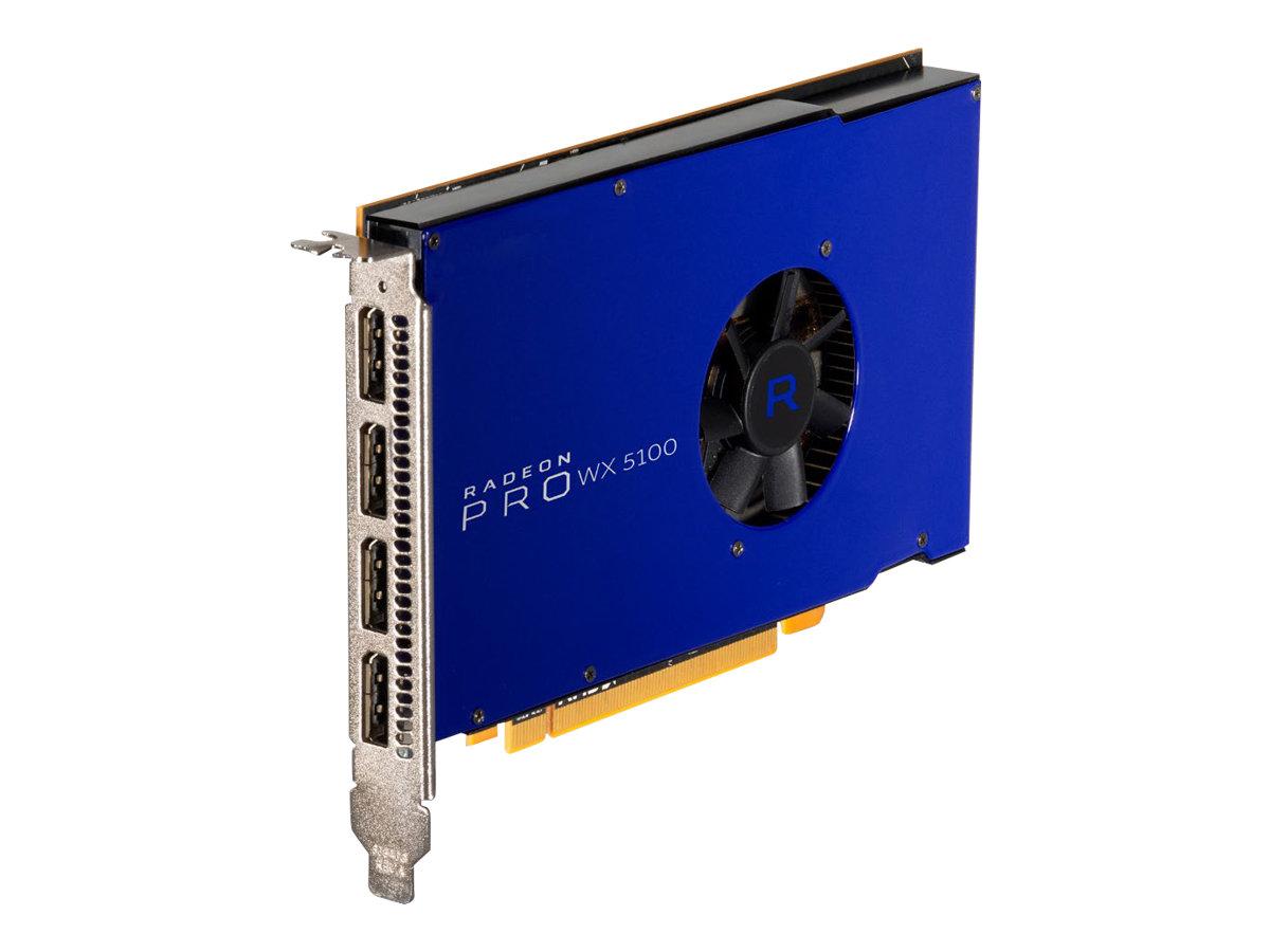 Radeon Pro WX5100 - Grafikkarten - Radeon Pro WX 5100 - 8 GB GDDR5 - PCIe 3.0 x16 - 4 x DisplayPort