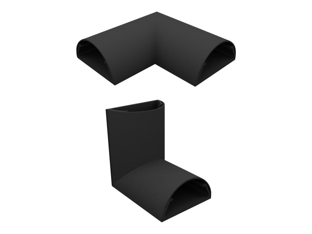 HAGOR L+C 33 mm - Kabelkanal-Eckenkit - Schwarz