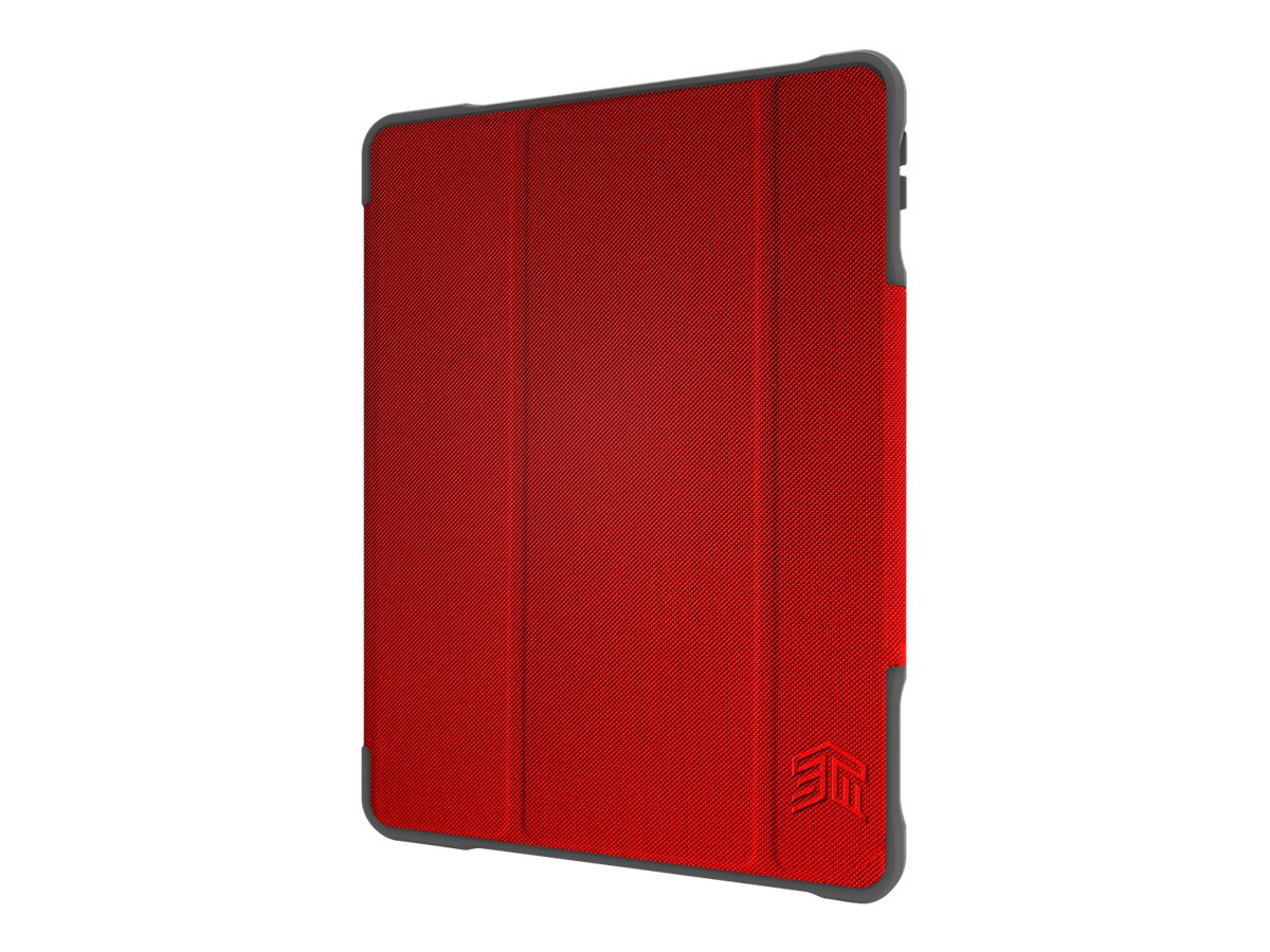 STM dux Plus Duo - Flip-Hülle für Tablet - widerstandsfähig - Polycarbonat, Thermoplastisches Polyurethan (TPU) - Rot - Universi