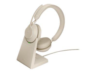 Jabra Evolve2 65 MS Stereo - Headset - On-Ear - Bluetooth - kabellos - USB-A