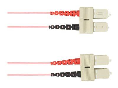 Black Box - Patch-Kabel - SC multi-mode (M) bis SC multi-mode (M) - 20 m - Glasfaser - pink