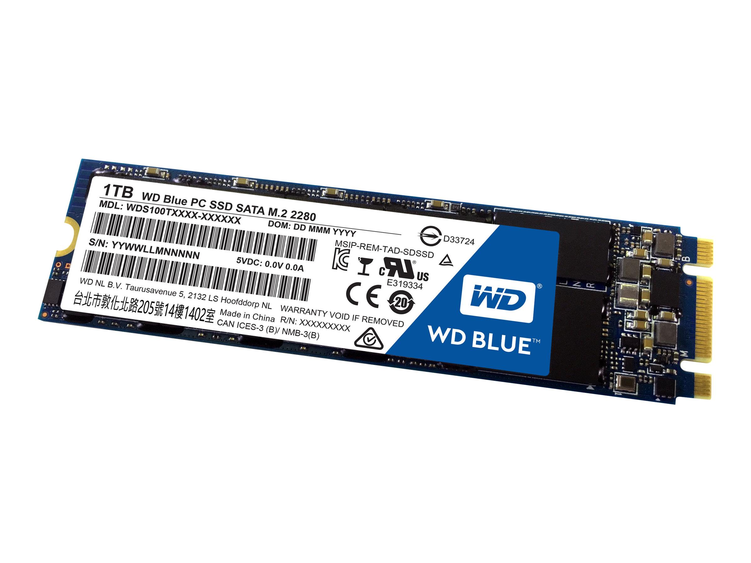 WD Blue PC SSD WDS100T1B0B - Solid-State-Disk - 1 TB - intern - M.2 2280 - SATA 6Gb/s