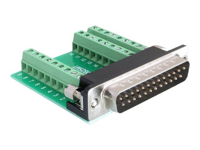 DeLOCK - Serieller Adapter - 9-poliger Anschlussblock (W) bis DB-25 (M)