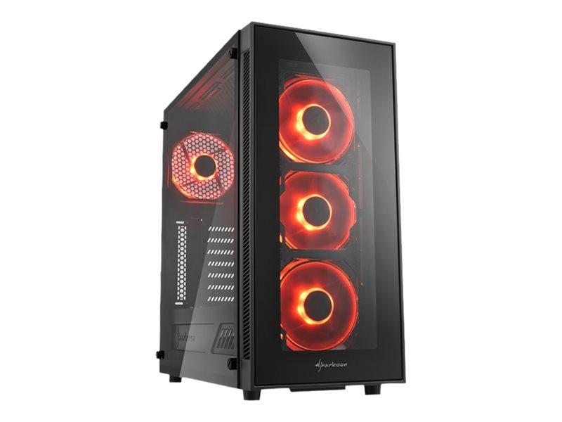Sharkoon TG5 - Tower - ATX - ohne Netzteil - Rot - USB/Audio