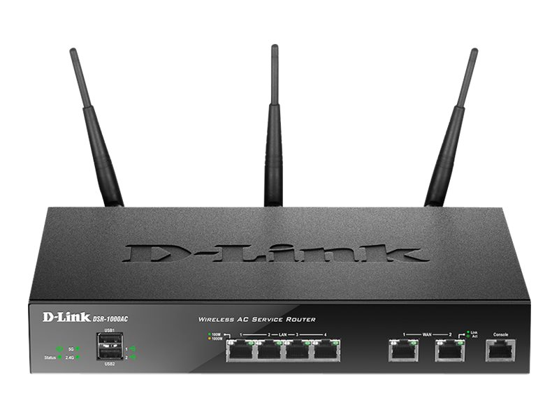 D-Link DSR-1000AC - Wireless Router - 4-Port-Switch - GigE - WAN-Ports: 2 - 802.11a/b/g/n