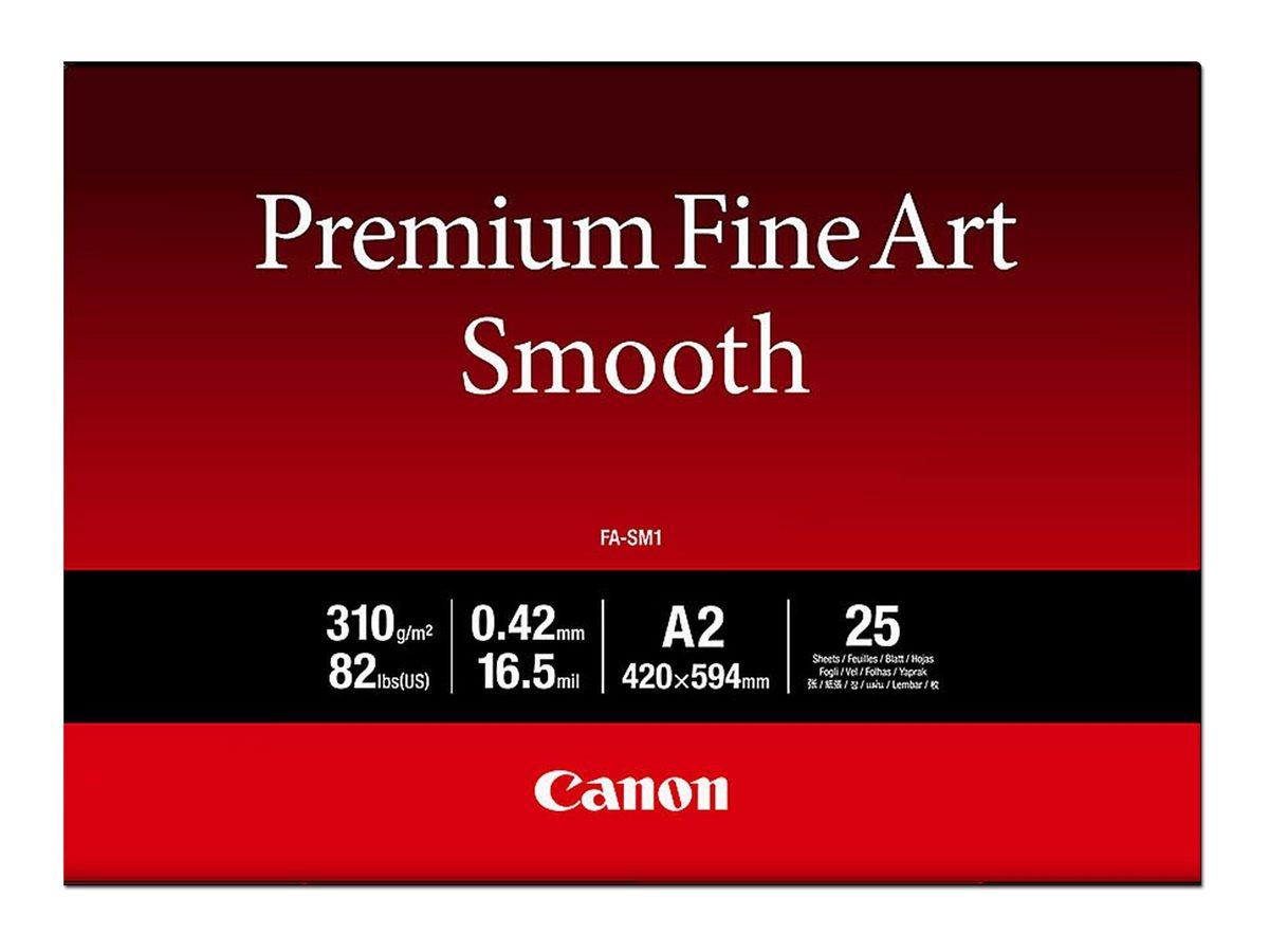 Canon Premium Fine Art Smooth FA-SM1 - Seidig - 16,5 mil - A2 (420 x 594 mm) - 310 g/m² - 25 Blatt Fotopapier