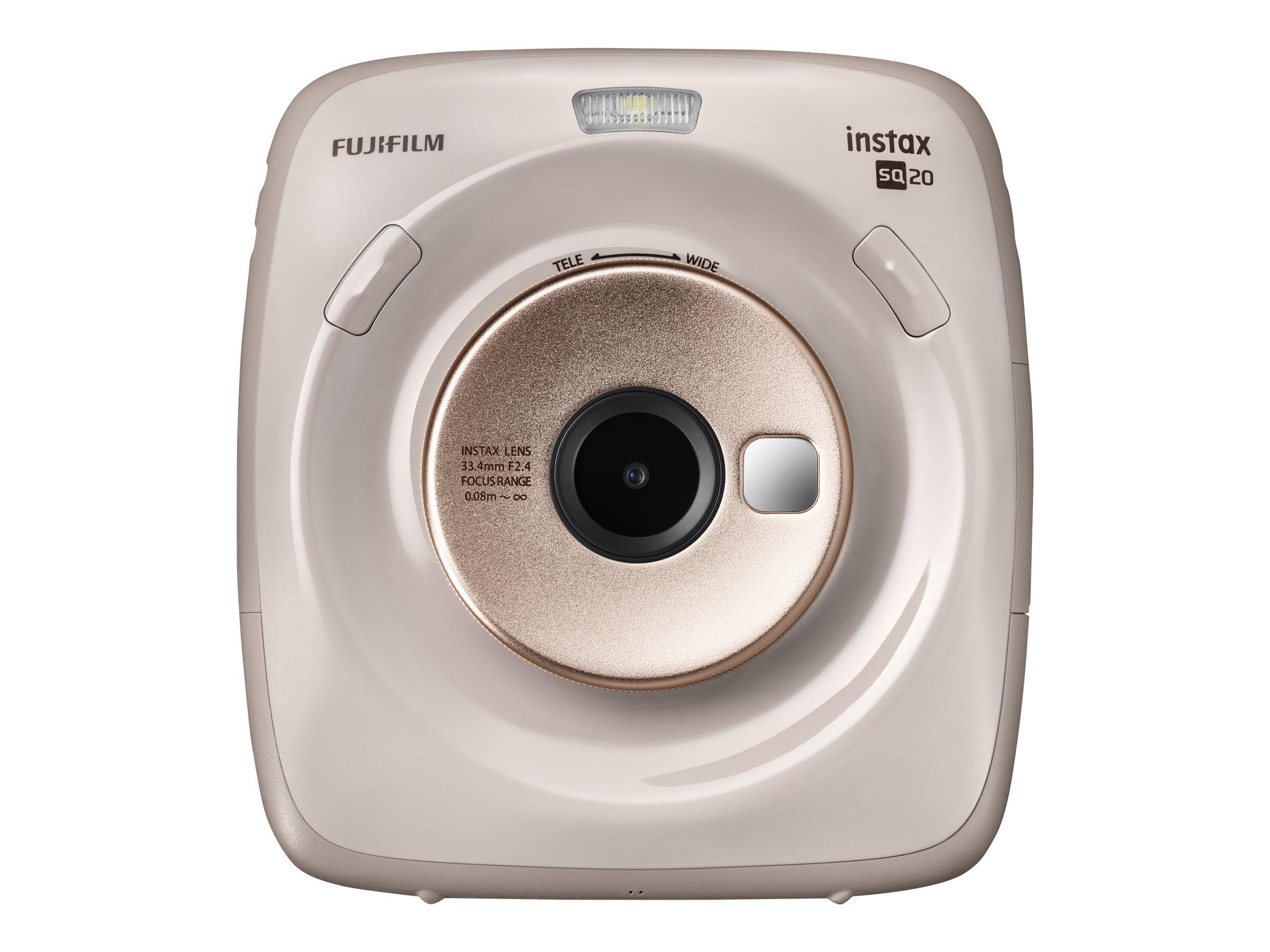 Fujifilm Instax SQUARE SQ20 - Digitalkamera - Kompaktkamera mit PhotoPrinter - 3.7 MPix / 15 BpS - beige