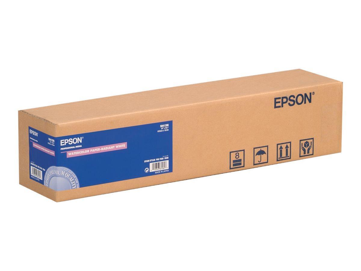 EPSON Watercolor Paper - Matt - Radiant White - Rolle A1 (61,0 cm x 18 m) - 190 g/m² - 1 Rolle(n) Papier mit Aquarellstruktur