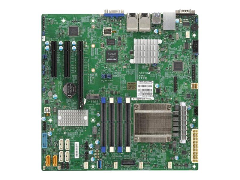 SUPERMICRO X11SSH-GTF-1585L - Motherboard - micro ATX - Intel Xeon E3-1585LV5 - C236 - USB 3.0