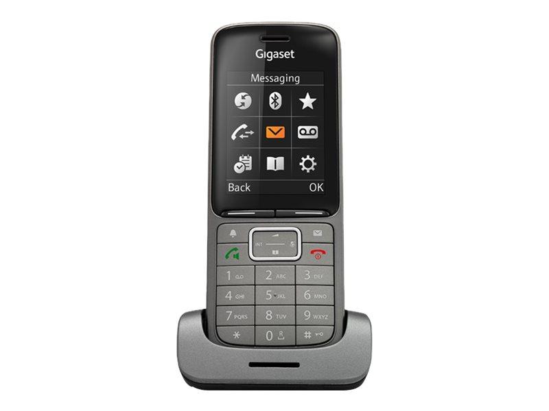 Gigaset SL750H PRO - Schnurloses Erweiterungshandgerät - mit Bluetooth-Schnittstelle mit Rufnummernanzeige - DECT\GAP - Graphite