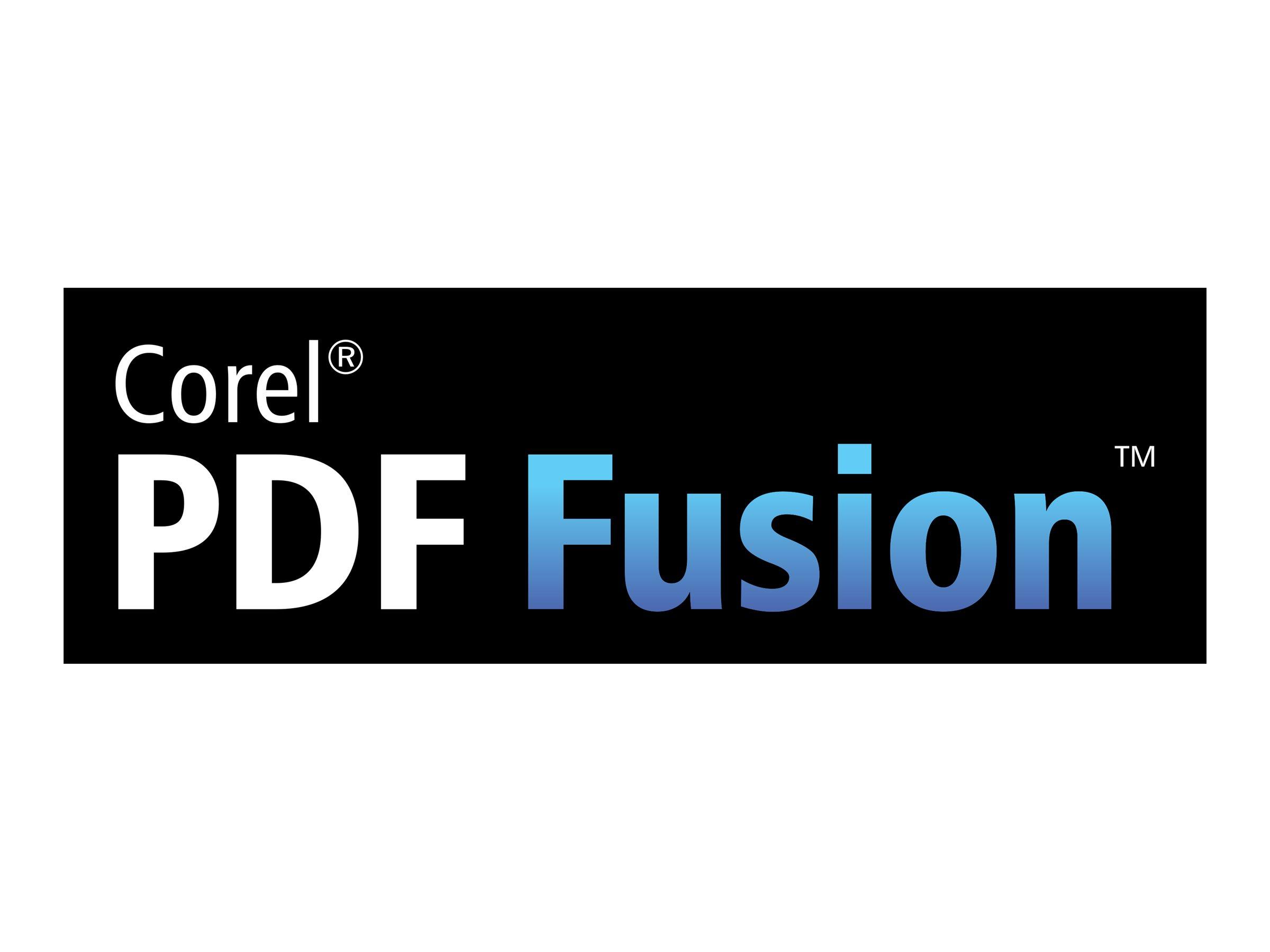 Corel PDF Fusion - Wartung (1 Jahr) - 1 Benutzer - CTL - Stufe E (121-250) - Win