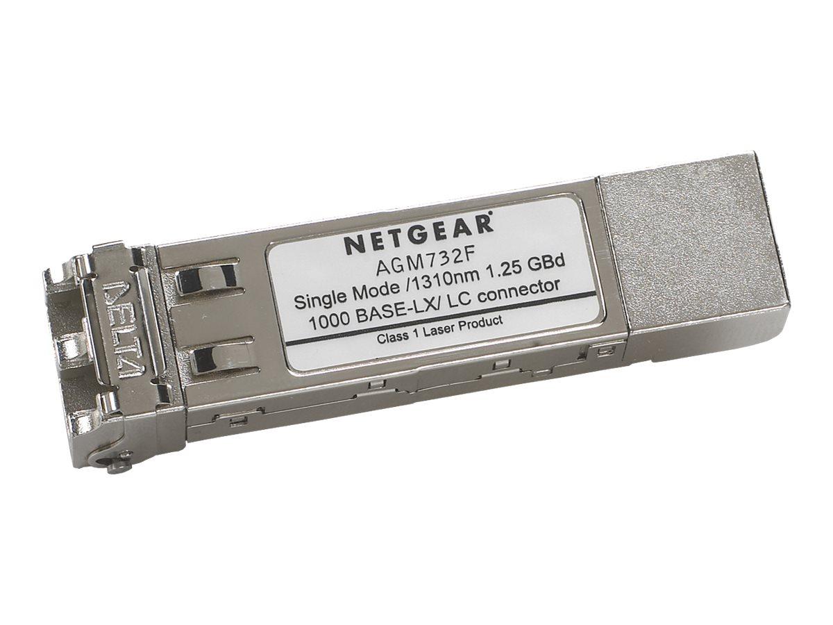 NETGEAR ProSafe AGM732F - SFP (Mini-GBIC)-Transceiver-Modul - GigE - 1000Base-LX - LC Single-Modus - bis zu 10 km