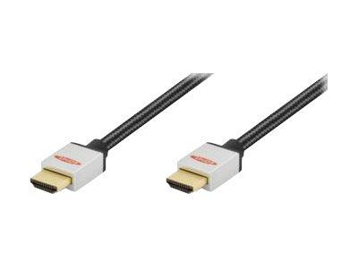 Ednet - HDMI mit Ethernetkabel - HDMI (M) bis HDMI (M) - 2 m - Dreifachisolierung - Schwarz