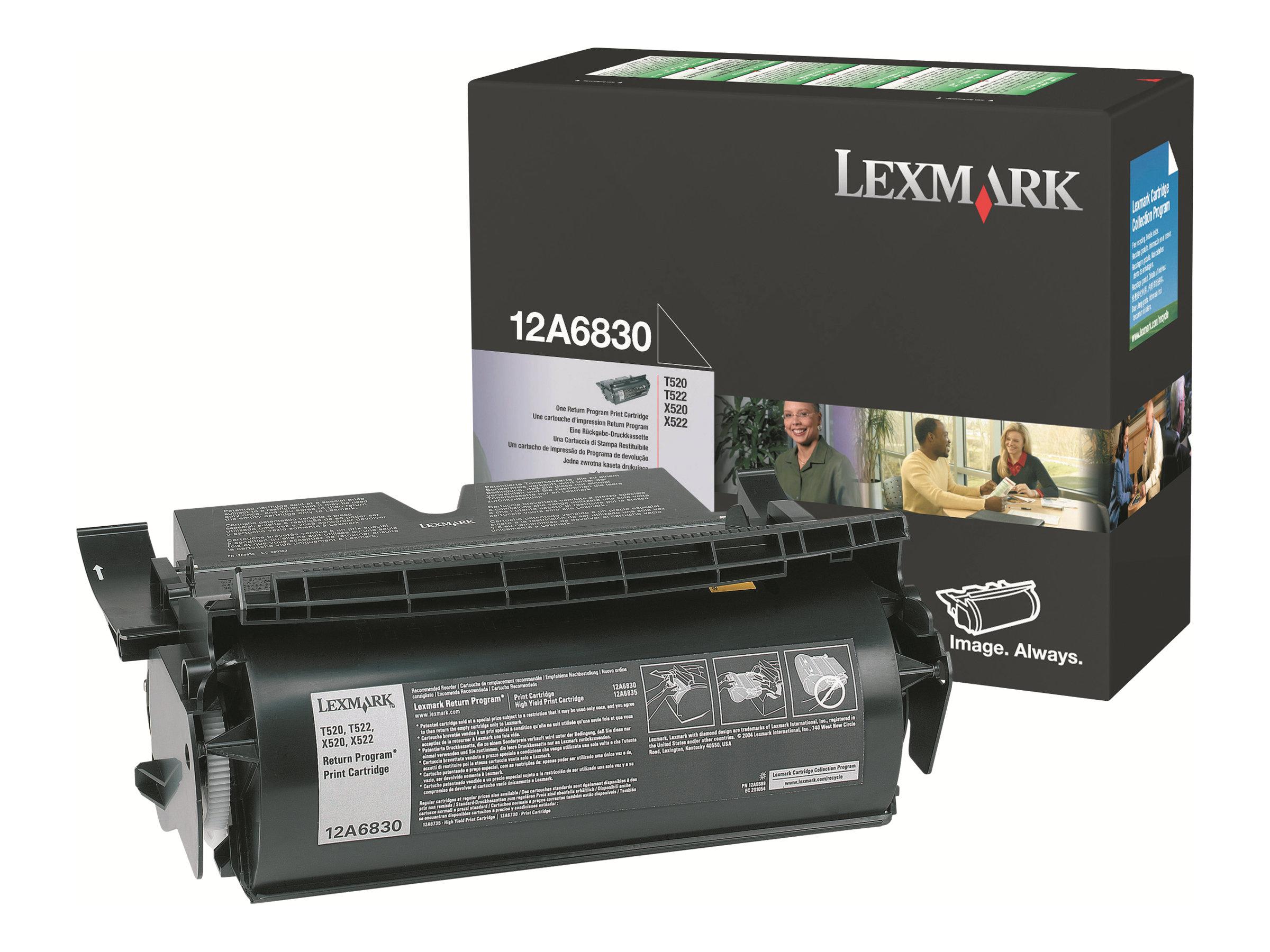 Lexmark - Schwarz - Original - Tonerpatrone - für T520, 522; X520, 522