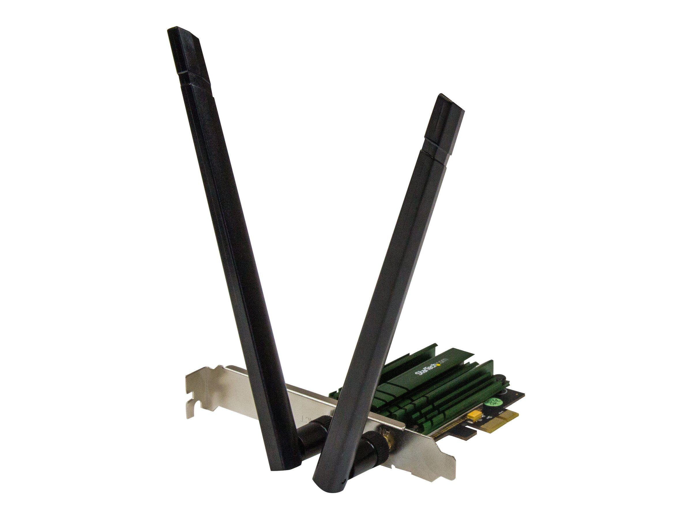 StarTech.com PCI Express WLAN AC1200 Karte - PCIe 802.11a/b/g/n/ac WiFi Dualband Netzwerkkarte - 2,4 / 5GHz - Netzwerkadapter -