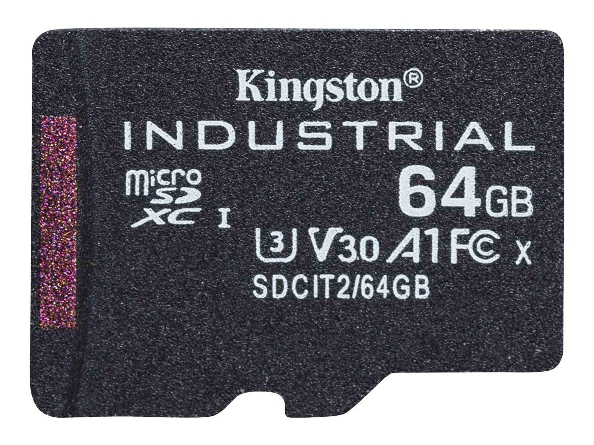 Kingston Industrial - Flash-Speicherkarte - 64 GB - A1 / Video Class V30 / UHS-I U3 / Class10 - microSDXC UHS-I