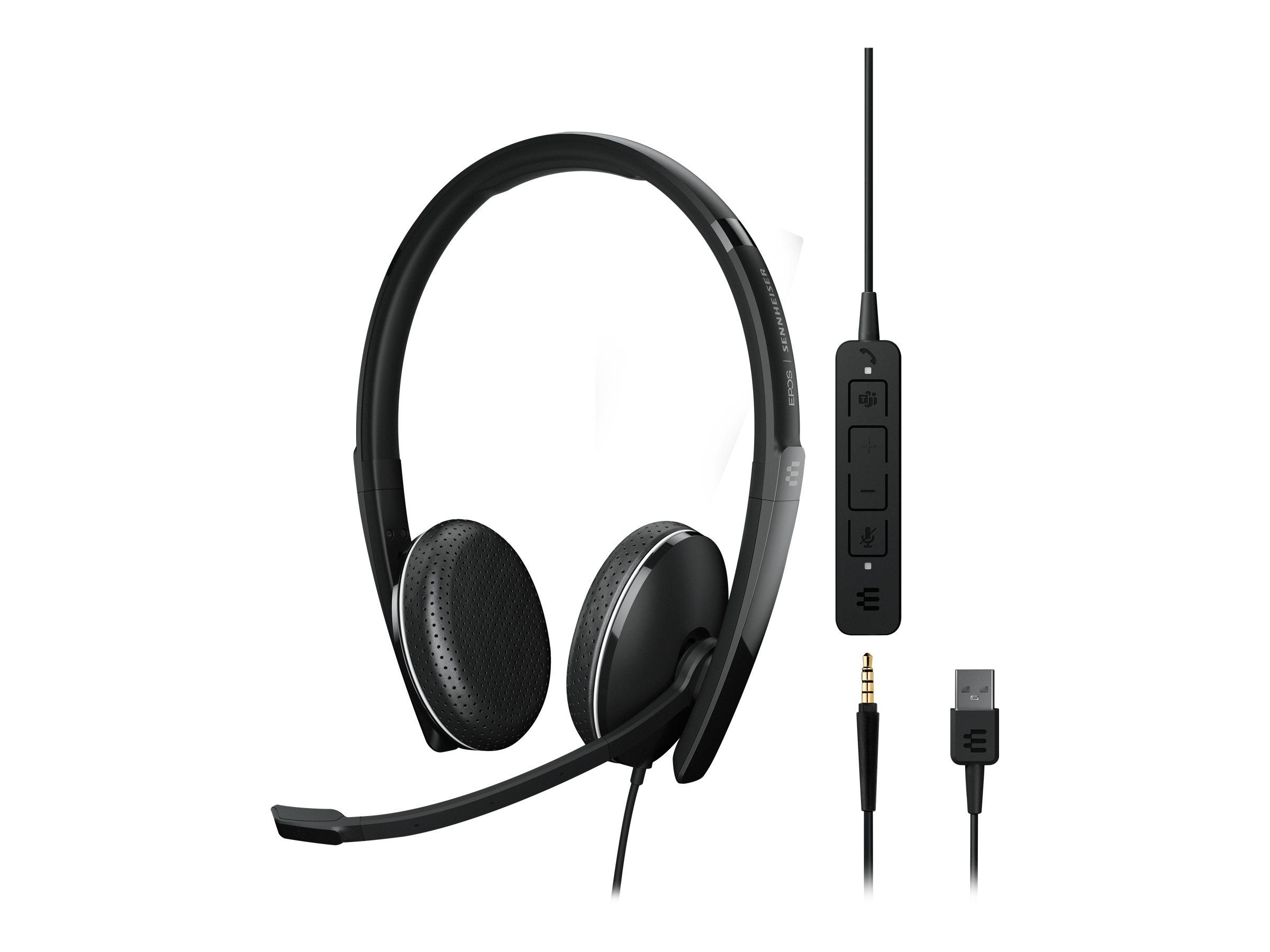 EPOS I SENNHEISER ADAPT 165T USB II - ADAPT 100 Series - Headset - On-Ear - kabelgebunden - 3,5 mm Stecker, USB-A