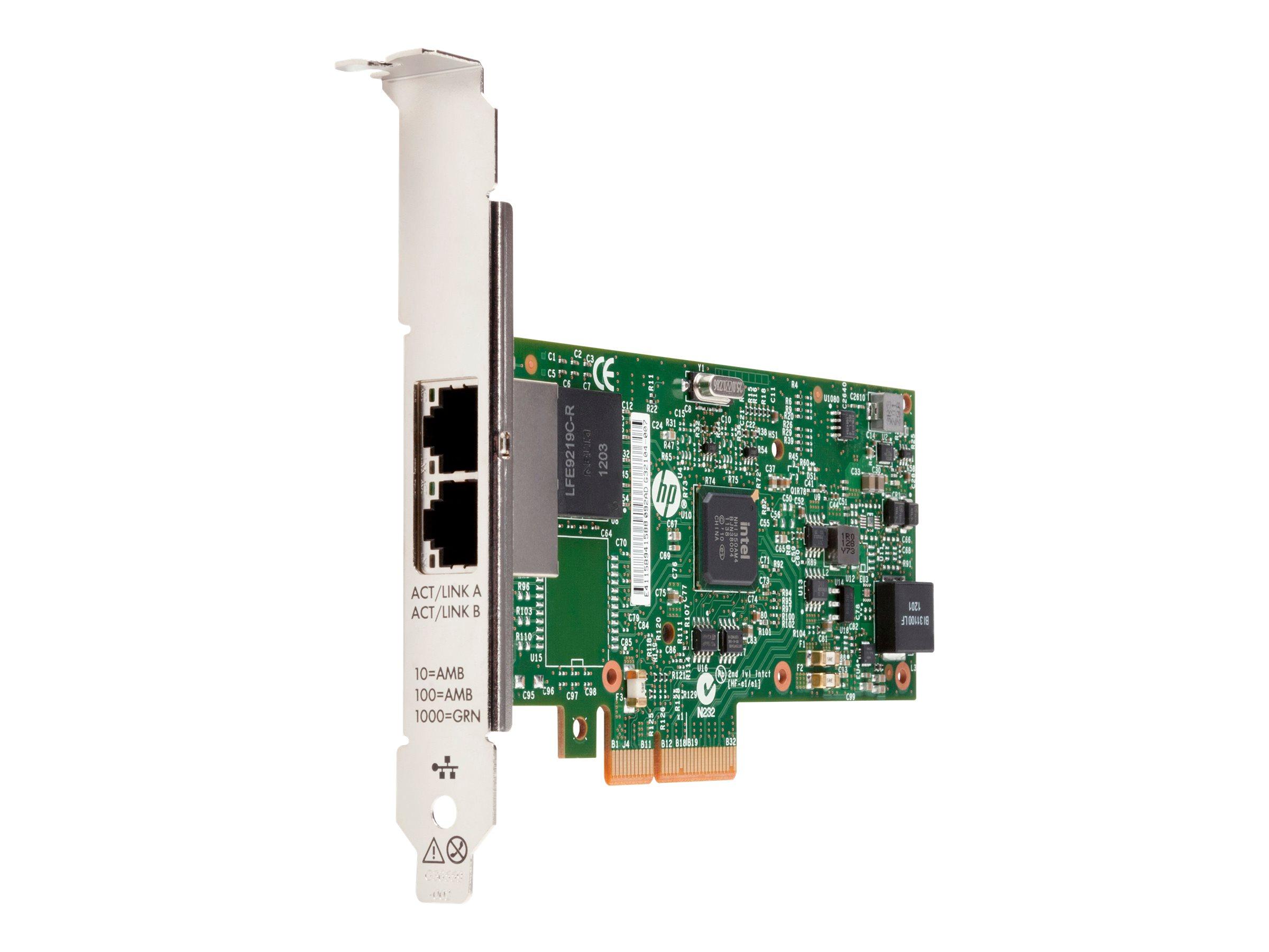 HP 361T - Netzwerkadapter - PCIe 2.1 x4 Low-Profile - Gigabit Ethernet x 2 - für Workstation Z220, Z420, Z620, Z820
