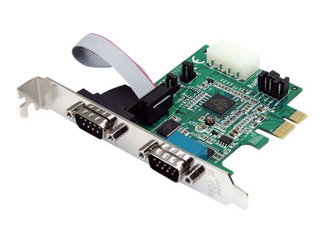 StarTech.com 2 Port Serielle RS232 PCI Express Schnittstellenkarte mit 16950 UART - RS-232/DB9 PCIe Karte mit LP4 - Serieller Ad
