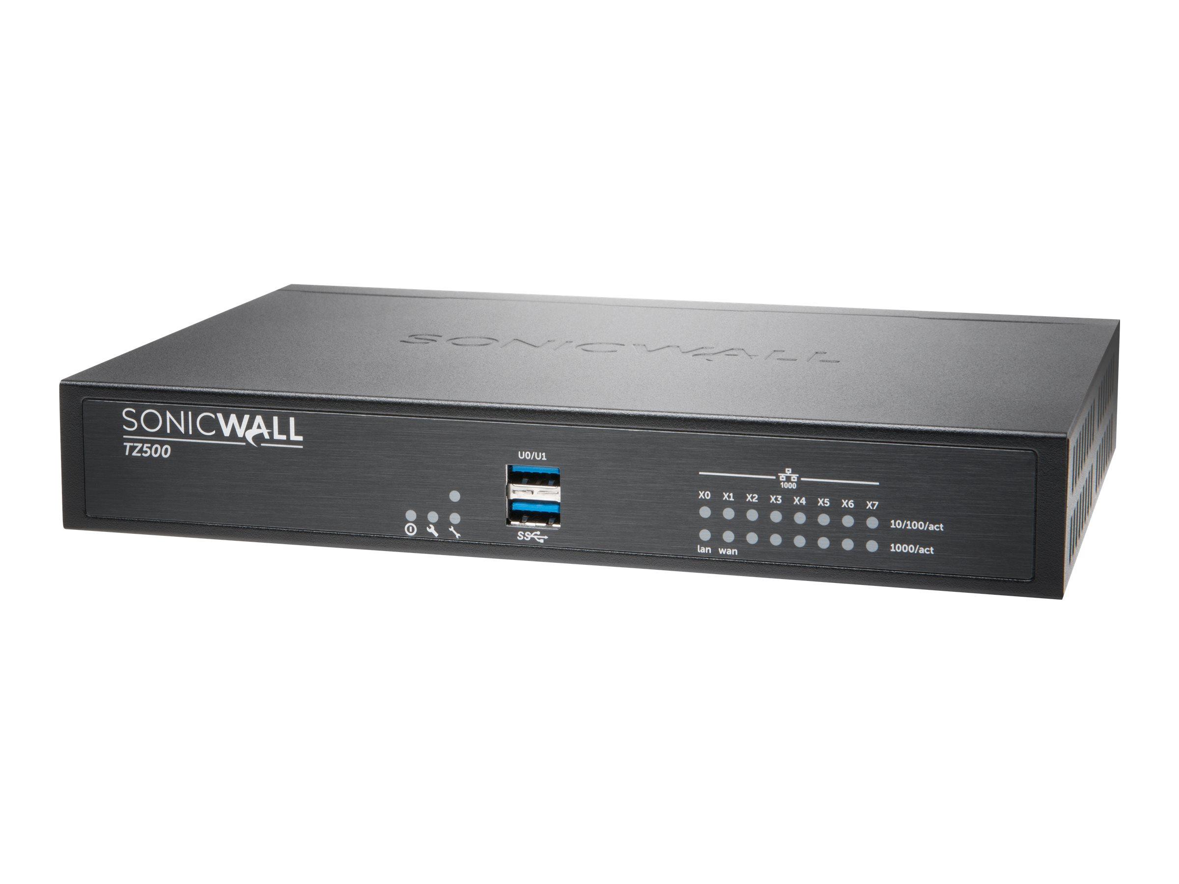 SonicWall TZ500 - Sicherheitsgerät - 8 Anschlüsse - GigE - NFR