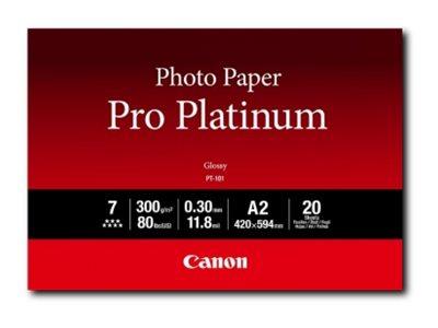 Canon Pro Platinum PT-101 - Hochglänzend - 300 Mikron - A2 (420 x 594 mm) - 300 g/m² - 20 Blatt Fotopapier